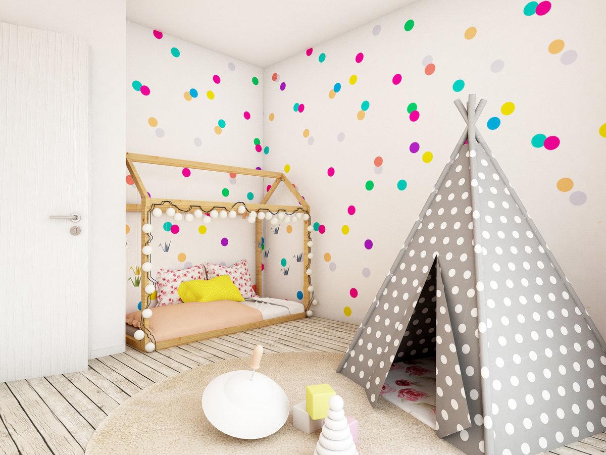 pokój dziecięcy tipi, naklejki w pokoju dziecięcym