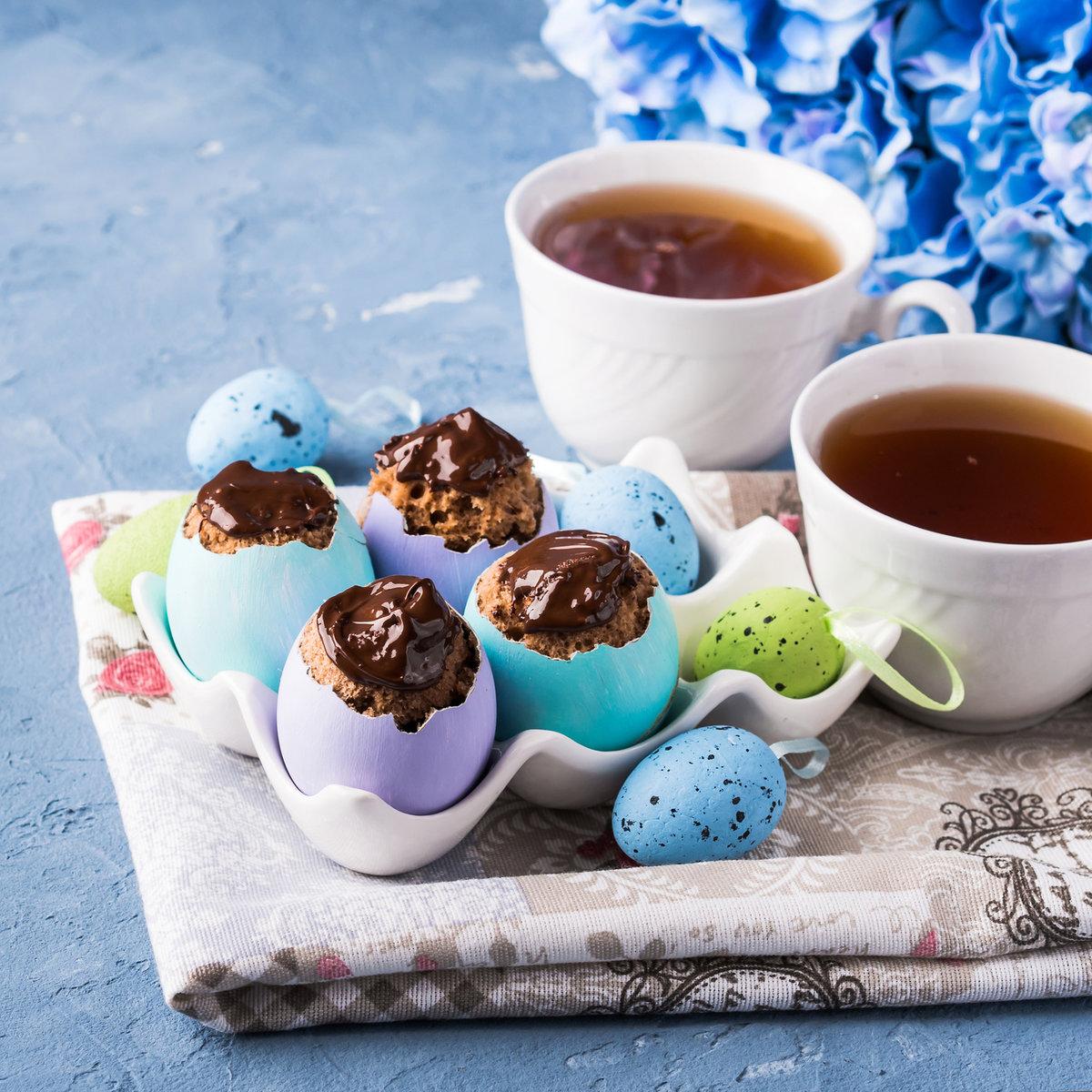 faszerowane jajka na słodko, wielkanoc